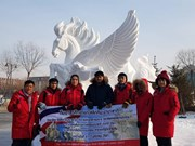Thai college takes top honour at int'l snow sculpture contest