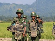 Myanmar: demonstrators clash with police