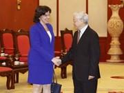 Party chief greets new Cuban Ambassador