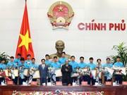 PM Nguyen Xuan Phuc welcomes U23 Vietnam