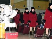 DPRK cheer team arrives in RoK for Winter Olympics