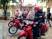 Fire bikes to the rescue in Hanoi's small alleys