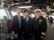 Vietnamese Ambassador visits US aircraft carrier in Norfolk