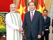 President Tran Dai Quang and spouse leave for India