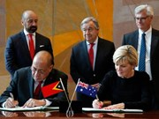 Australia, Timor-Leste sign maritime boundaries treaty