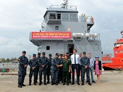 Vietnam-made logistic ship handed over to foreign client