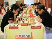 One Vietnamese player left in leading group of HDBank chess tourney