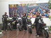 Female Indian motorcyclists arrive in Vietnam