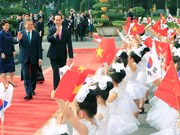 President Tran Dai Quang welcomes RoK counterpart in Hanoi