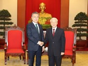 Party chief welcomes RoK President