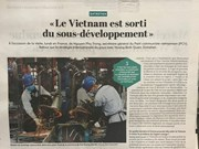 French newspaper highly values Vietnam's economic achievements