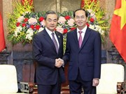 President receives Chinese Foreign Minister