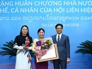 Vietnam, Laos honour women's union activists