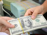 Reference exchange rate down on week's first day