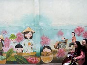 Mural paintings stir quiet valley in Da Nang