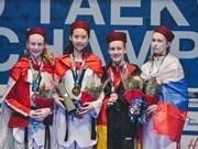 Vietnamese bags gold at world junior taekwondo champs
