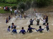 Water splashing festival recognised as national intangible cultural he