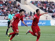 Vietnam up 10 places in FIFA rankings in April