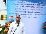 Cuban hero's paintings, poems introduced in Hanoi