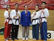 Taekwondo artists take more golds from int'l club champs