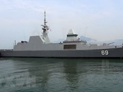 Singapore Navy's vessel visits Da Nang