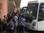 National transport strains under holiday rush