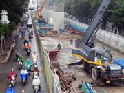 Hanoi Party official inspects progress of urban railway project