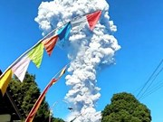 Indonesia evacuates people near active Merapi volcano