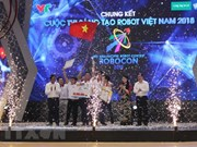 Lac Hong team triumphs at Robocon Vietnam 2018