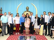 Cuban youth union delegation visits Ben Tre