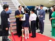 President Tran Dai Quang begins State visit to Japan