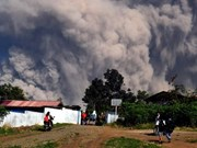 Indonesia's most active volcano erupts again