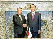 President meets Japan's lower house speaker