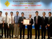 Hue city bestows honorary citizenship on Japanese national