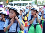 2 million helmets to be given to first Vietnamese graders