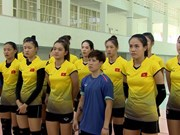 National women's volleyball team prepares for Asian Games