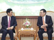 Deputy PM Vuong Dinh Hue welcomes Party chief of Chinese province