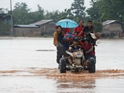 Laos temporarily bans activities in broken dam's vicinity