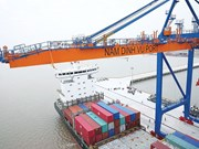 Nam Dinh Vu deep-water port records high productivity