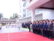 Flag raising ceremony in Laos marks ASEAN's 51st anniversary