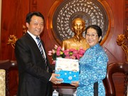 HCM City leader hosts Chinese youth league's secretary