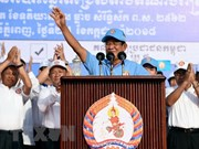 Cambodian PM meets with leaders of political parties