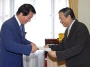 Japan-Vietnam Special Ambassador welcomed