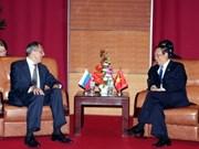 FM Khiem receives foreign counterparts