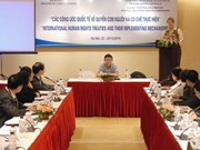 Seminar discusses int'l conventions on human rights
