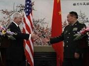 US defense secretary visits China