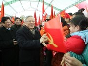 Party, Government leaders visit revolutionary village