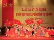 Hanoi marks Party's founding anniversary