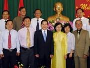 President celebrates Tet with HCM City leaders