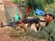 Cambodian and Thai troops continue border fight
